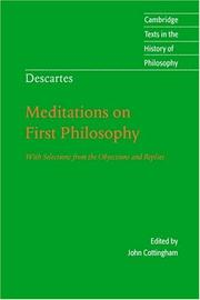 Cover of: Descartes: Meditations on First Philosophy | RenГ© Descartes