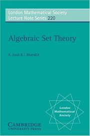 Cover of: Algebraic set theory