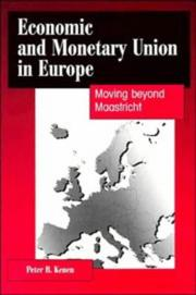 Cover of: Economic and monetary union in Europe