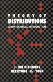 Cover of: The Theory of Distributions | J. Ian Richards