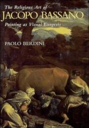 Cover of: The religious art of Jacopo Bassano