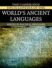 Cover of: The Cambridge encyclopedia of the world's ancient languages | edited by Roger D. Woodard.