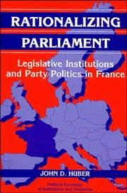 Cover of: Rationalizing parliament