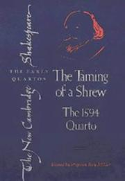Cover of: The taming of a shrew |