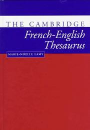 Cover of: The Cambridge French-English thesaurus