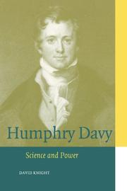 Cover of: Humphry Davy: Science and Power (Cambridge Science Biographies)