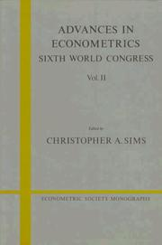 Cover of: Advances in Econometrics | Christopher A. Sims