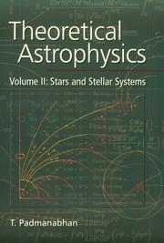 Cover of: Theoretical Astrophysics, Volume II | T. Padmanabhan