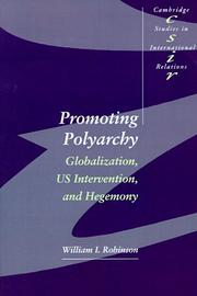 Cover of: Promoting polyarchy