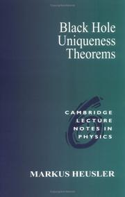 Cover of: Black hole uniqueness theorems