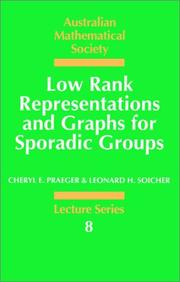 Cover of: Low rank representations and graphs for sporadic groups