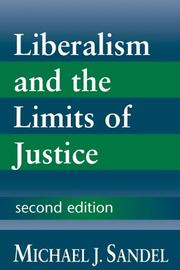 Cover of: Liberalism and the limits of justice