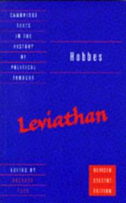 Cover of: Leviathan | Thomas Hobbes