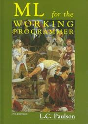 Cover of: ML for the working programmer