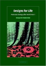 Cover of: Designs for Life | Soraya de Chadarevian