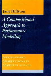 Cover of: A compositional approach to performance modelling
