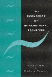 Cover of: The economics of international transfers | Steven Brakman