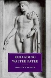 Cover of: Rereading Walter Pater
