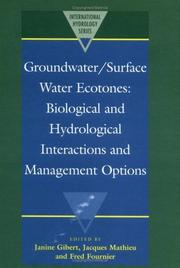 Cover of: Groundwater/Surface Water Ecotones |