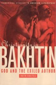 Cover of: Christianity in Bakhtin | Ruth Coates