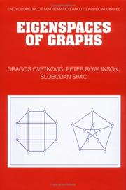 Cover of: Eigenspaces of graphs