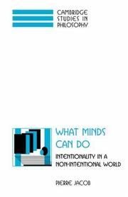 Cover of: What minds can do