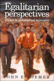 Cover of: Egalitarian Perspectives | John E. Roemer