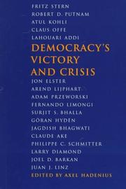 Cover of: Democracy's victory and crisis
