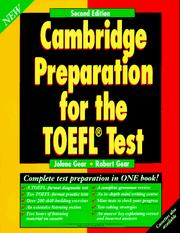 Cover of: Cambridge preparation for the TOEFL test