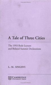 Cover of: A tale of three cities