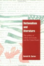Nationalism and literature by Sarah M. Corse