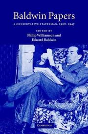 Cover of: Baldwin papers