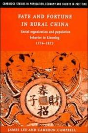 Cover of: Fate and fortune in rural China
