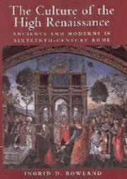 Cover of: The culture of the High Renaissance