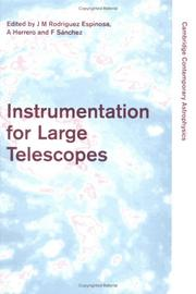 Cover of: Instrumentation for large telescopes |