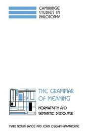 Cover of: The grammar of meaning