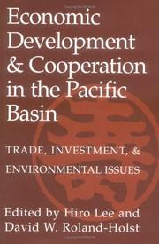 Cover of: Economic Development and Cooperation in the Pacific Basin |