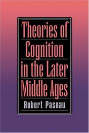 Cover of: Theories of cognition in the later Middle Ages