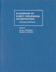 Handbook of Early Childhood Intervention by