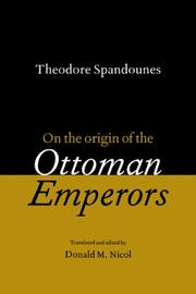 Cover of: On the origin of the Ottoman emperors