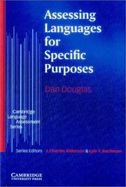 Cover of: Assessing Languages for Specific Purposes (Cambridge Language Assessment)