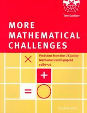 Cover of: More mathematical challenges