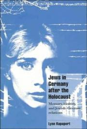 Cover of: Jews in Germany after the Holocaust