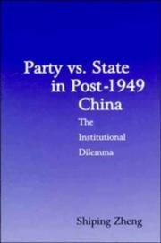 Cover of: Party vs. state in post-1949 China
