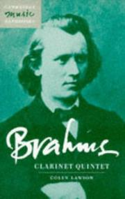 Cover of: Brahms, clarinet quintet