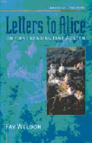 Cover of: Letters to Alice | Fay Weldon