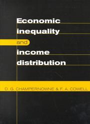Cover of: Economic inequality and income distribution