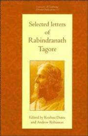 Cover of: Selected letters of Rabindranath Tagore | Rabindranath Tagore