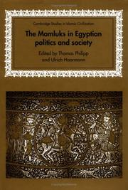 Cover of: The Mamluks in Egyptian politics and society |