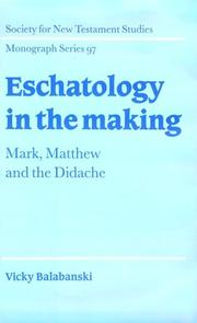 Cover of: Eschatology in the making